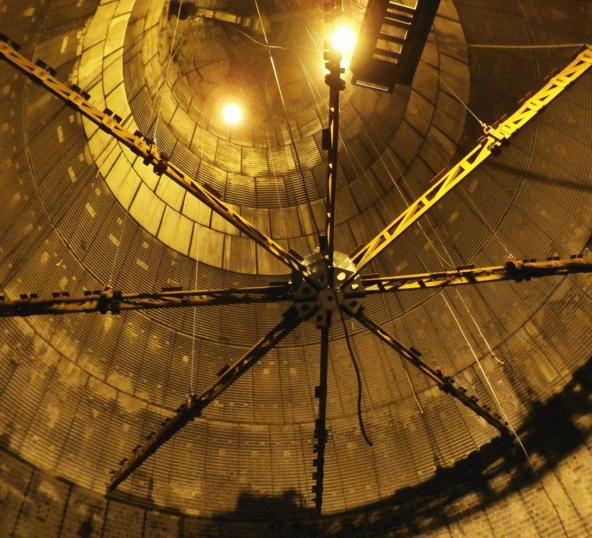 Plataforma circular de alto horno