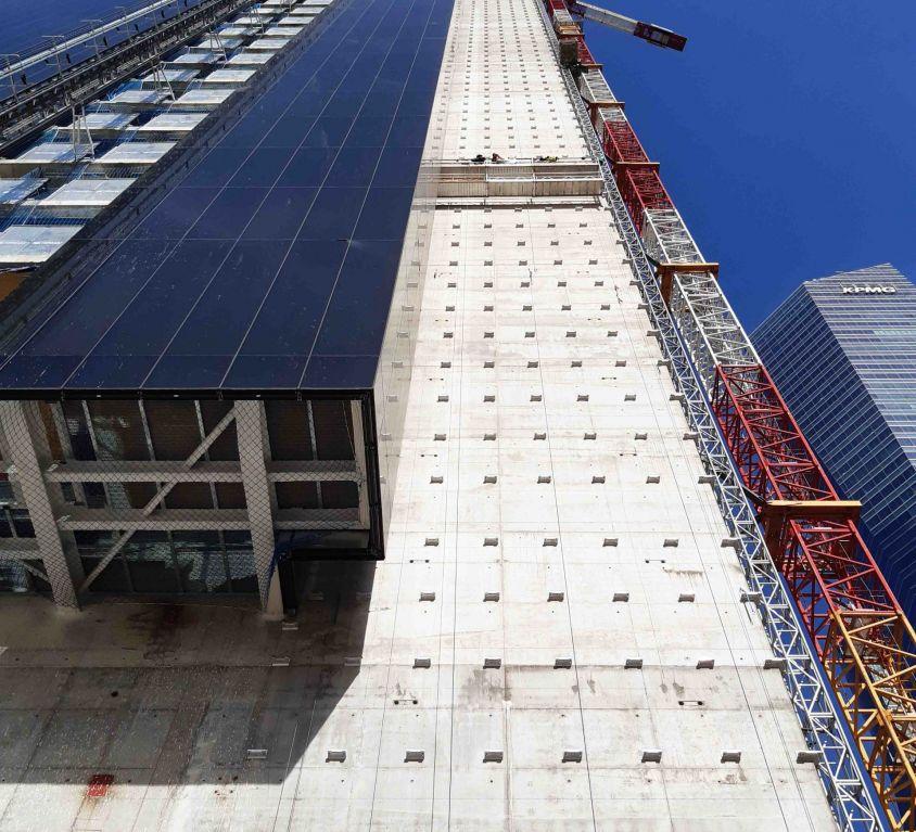 Plataformas de doble piso para montaje de fachada ventilada