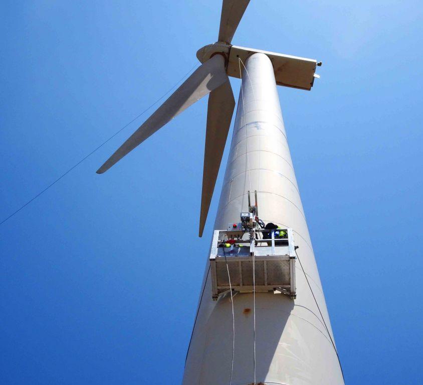 Plataforma Modublade mantenimiento palas aerogenerador GAMESA G-58 – MARRUECOS