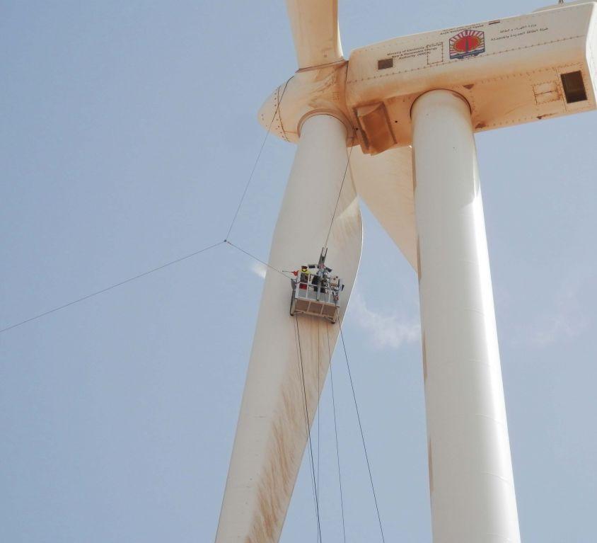 Modublade platform for GAMESA G-80 wind turbine blades maintenance – EGYPT