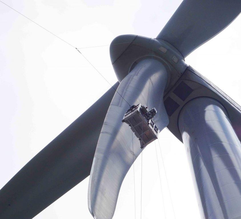 Modublade platform for GAMESA G114 wind turbine blades maintenance – PORTUGAL