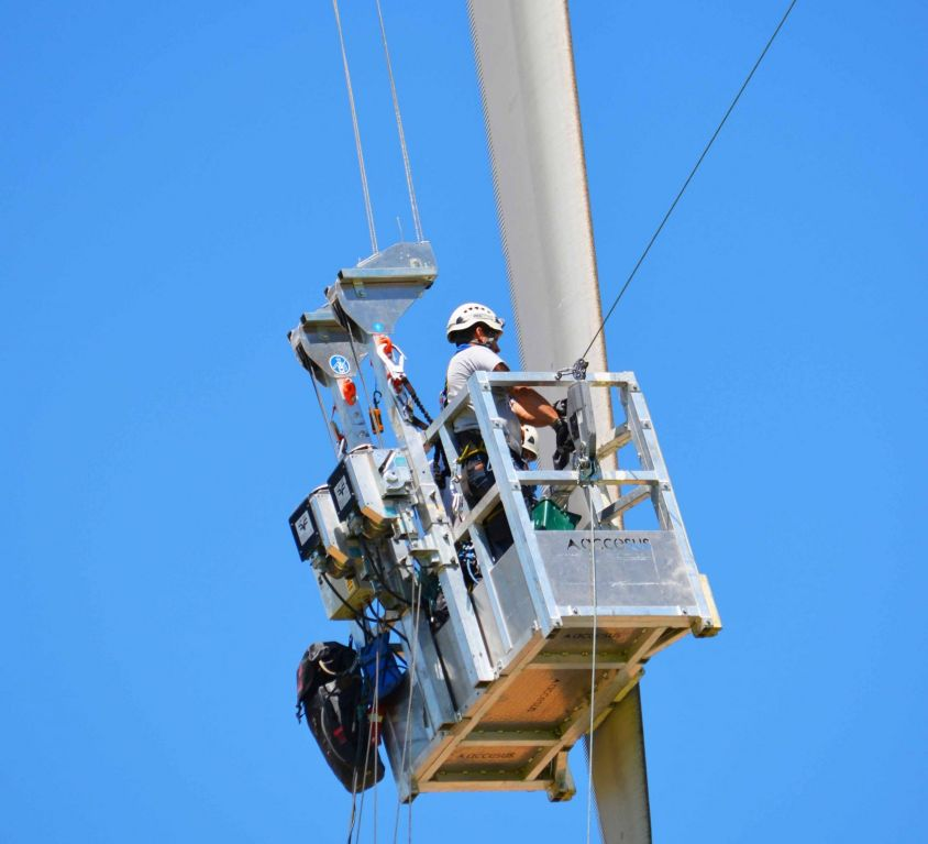 Plataforma Modublade double point mantenimiento palas aerogenerador